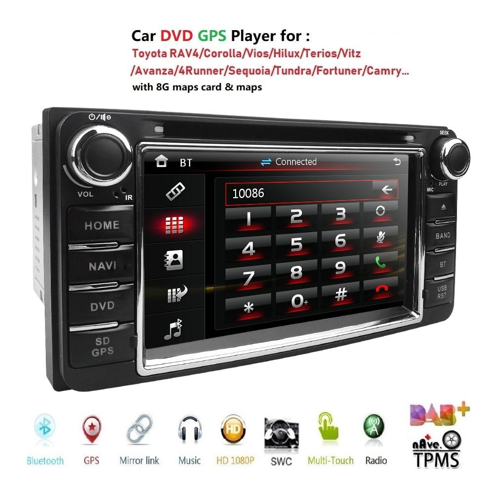 Автомобильный DVD плеер GPS навигация для TOYOTA Corolla Hilux Vios Zelas2011 матрица Previa Prado Land Cruiser FJ Carmy 4runner Fortuner