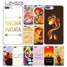 Lavaza le Hakuna Matata roi roi étui pour iphone XR X 11 Pro XS Max 8 7 6 6S 5 5S SE 4S 4 10