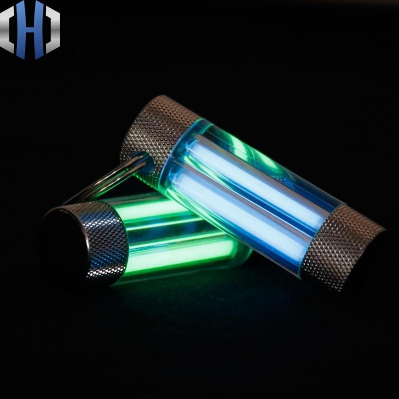 Tritium Rohr Schlüssel Ring Doppel Tritium Rohr Schlüssel Ring Selbst-beleuchtung Leuchtstoff Stick Licht Stick EDC