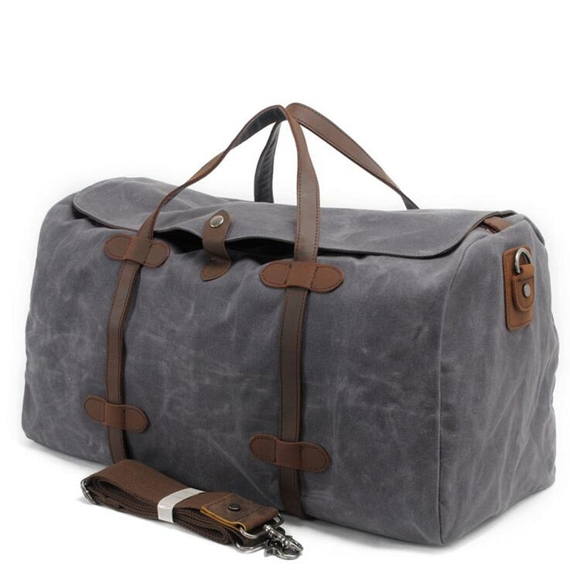 Vintage Wax Printing Canvas Leather Women Travel Bags Luggage Bags Men Duffel Bags Travel Tote Large Weekend Bag Overnight vintage embroidery women travel bag large capacity canvas printing bags portable women s tote bag travel bags women