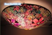 Mosaïque verre LED plafonnier traditionnel encastré plafonniers multi couleur verre style tiffany moderne plafonnier