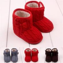 Infant Boys Girls Shoes Bowknot Soft Sole Handcraft Winter Boots Kids Booties Newborn Toddler First Walker Soft Dropshipping 823