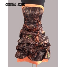 Robes Camouflage en chêne moussu robes de demoiselle dhonneur Camouflage Orange Hi-lo pick-up mariage champêtre