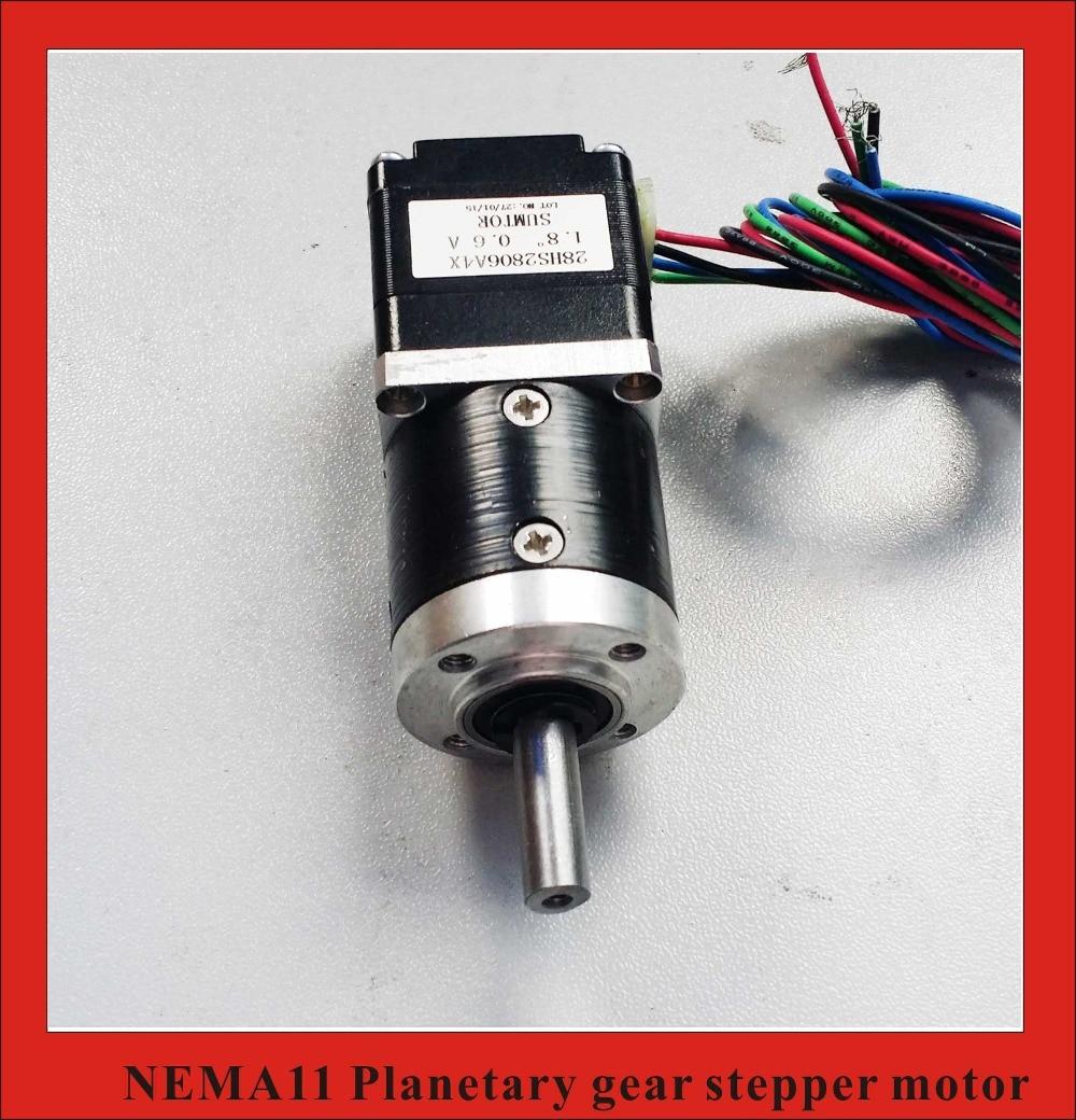 141 Nema11 reductor planetario Motor paso a paso longitud 28mm Nema 11 motorreductor Motor paso a paso