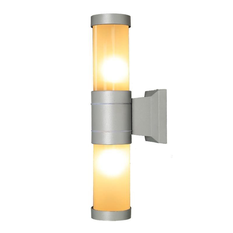 Moderna gris doble cabezas de lámparas de pared al aire libre europeos Villa impermeable paisaje fuera corredor pasillo lámparas de pared