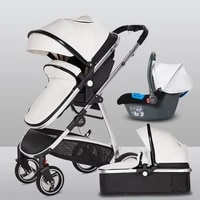 2020 new 3 in 1 stroller multi function can sit and lay lightweight folding portable childrens trolley two way stroller