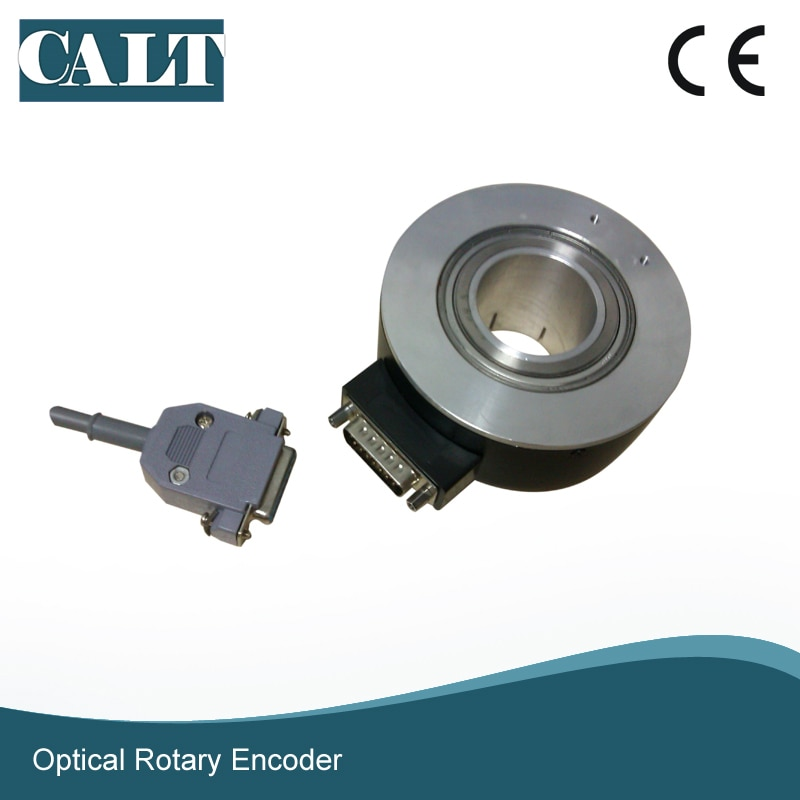 CALT GHH90-40mm voltage output large hollow encoder with PC socket side rotary encoder Used in automatic control calt ghs4006 series pulse reading mechanical rotary encoder 40mm size npn linear encoder sensor