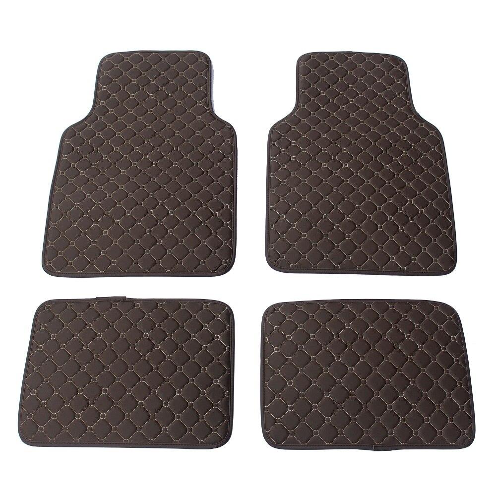 Custom Universal RHD / LHD Black Coffee Football texture Car Floor Mats For BMW Car Styling Interior Fashion Car Floor Mats