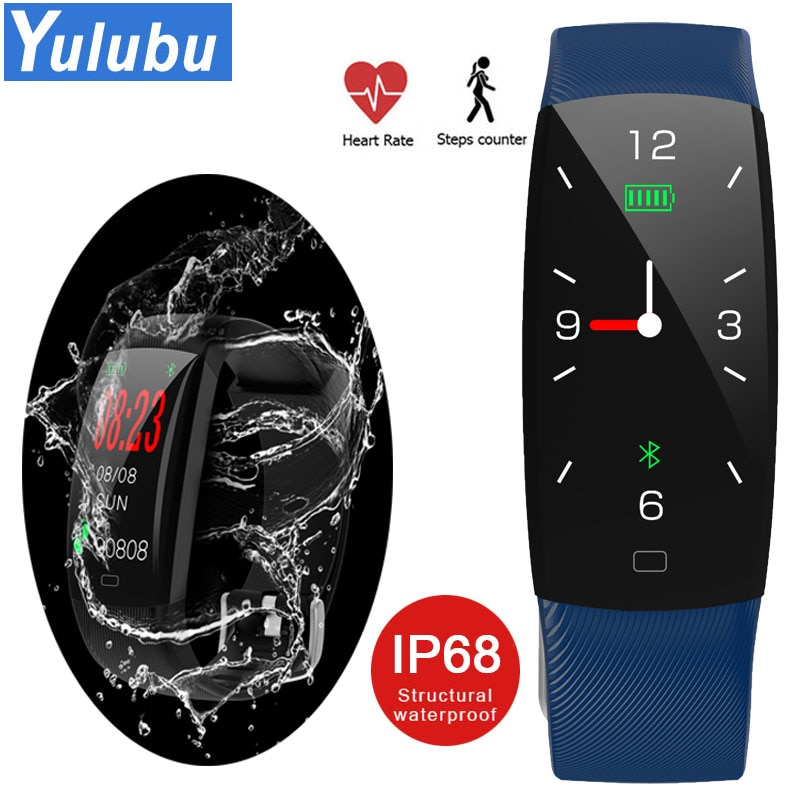 2019 F64C Color pantalla Bluetooth pulsera/Correa inteligente IP68 impermeable monitor de ritmo cardíaco deporte banda para Android IOS PK F07