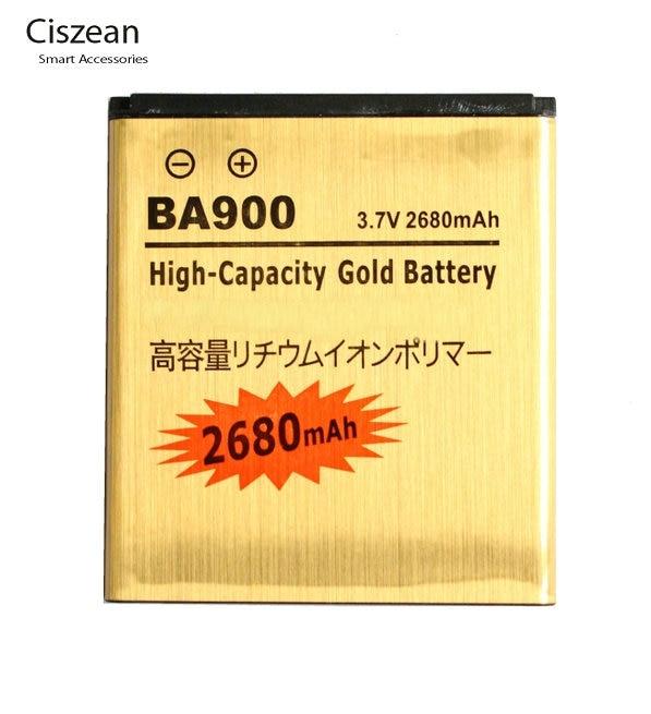 2680 mAh BA900 Gold Ersatz Li-ionen-akku Für E1 J L M TX LT29 LT29i ST26i ST26a S36h C2104 C2105 C1904 C1905 SO-04D AB-0500