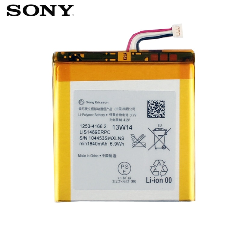 Original SONY Battery For Sony LT26 LT26w Xperia acro HD SO-03D LIS1489ERPC Genuine Replacement Phone Battery With Tools 1840mAh enlarge
