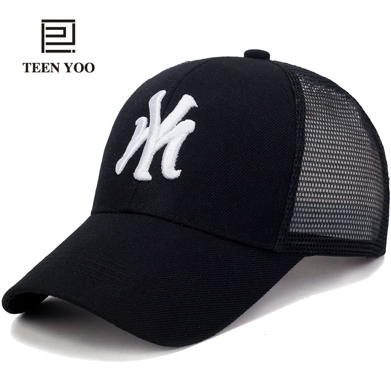 Gorra de béisbol de verano, gorra de Sol de secado rápido a la moda para adultos Unisex, gorra de algodón para camionero con bordado de malla, gorra Snapback informal para exteriores