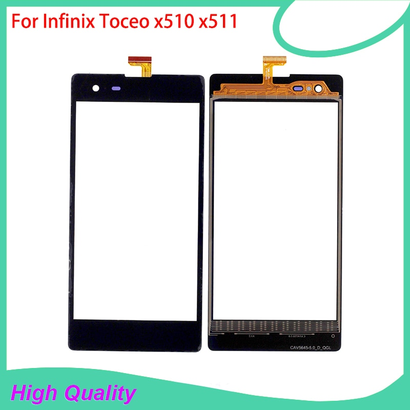 PANTALLA TÁCTIL PARA Infinix Toceo X510 X511 Color negro panel táctil de teléfono móvil