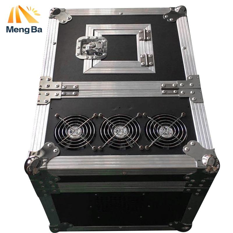 MENGBA 600 w Máquina de Neblina de Alta qualidade Dual DMX512 Hazer Nevoeiro Máquina de Fumaça Máquina de Efeito Stage Máquina Com Caso do Vôo