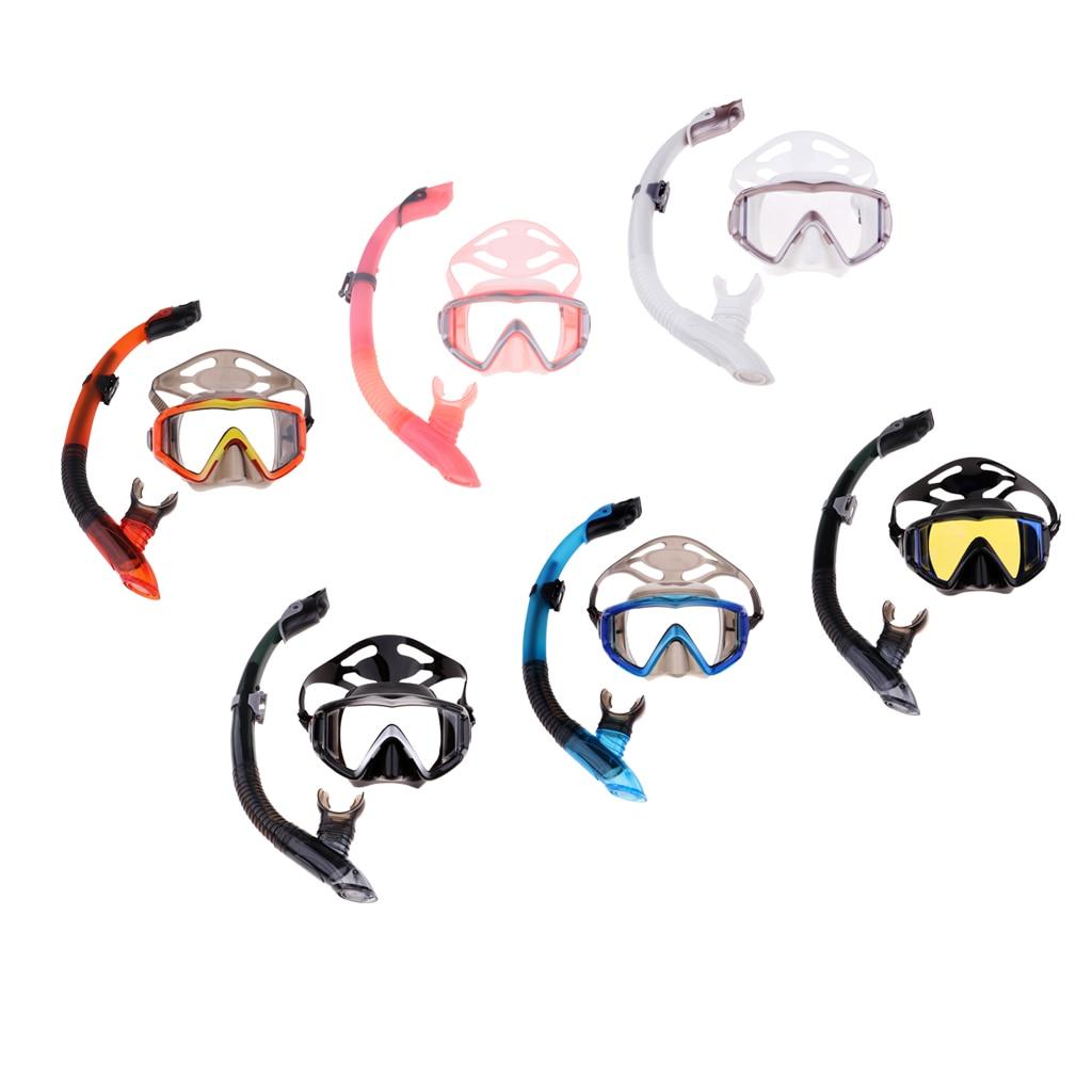 Máscara antivaho completamente seco profesional Snorkel superior seco con boquilla de silicona y correa de ajuste para nadar buceo pesca submarina