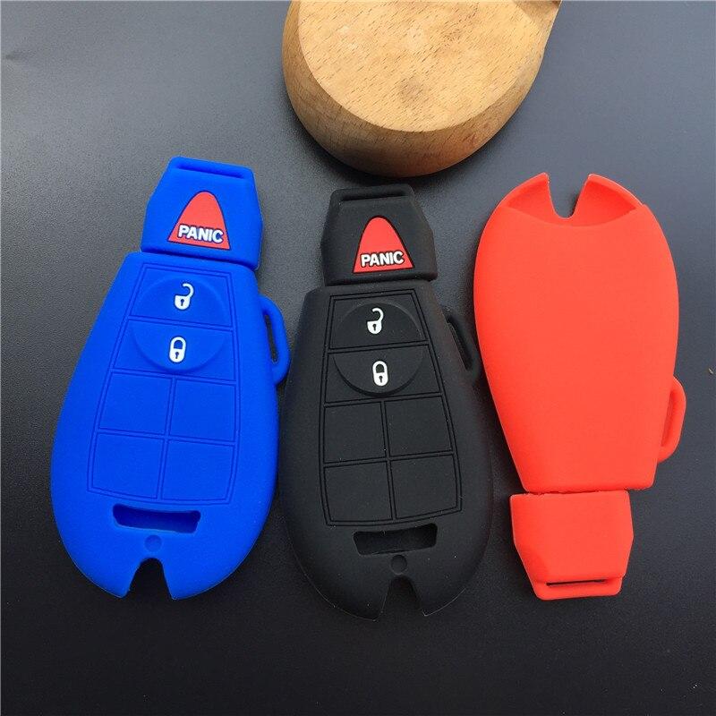 2 Botões Virar Chave do carro de borracha de Silicone Caso Capa Para Dodge 08-14 Grand Caravan 09-13 Jornada para jeep chave