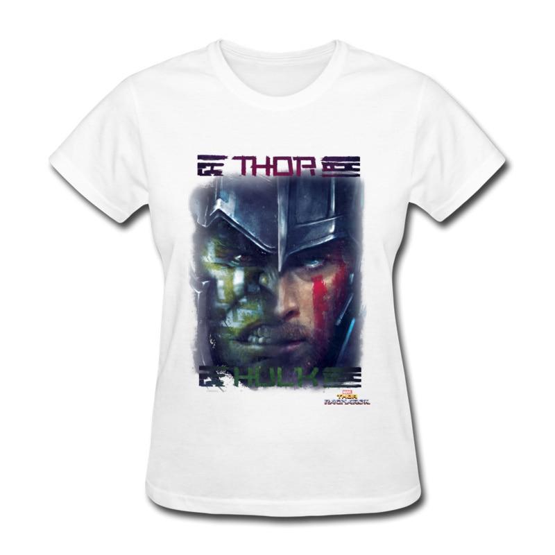 Thor ragnarok vs o hulk comics tees verão 100% algodão tripulação pescoço feminino topos e camisetas de ajuste fino camiseta cupons presente