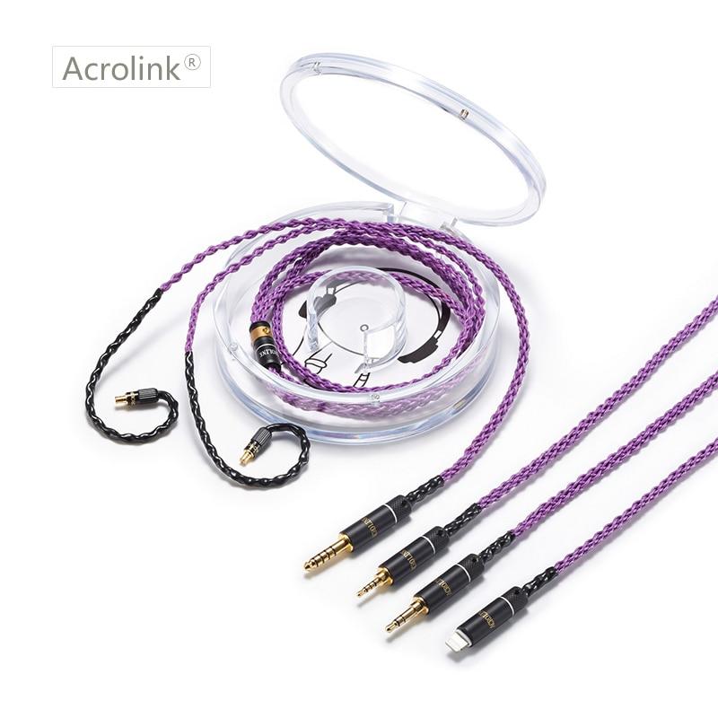 Acrolink/2,5/3,5/4,4mm/teléfono chapados en plata auriculares Actualización de alambre de Cable del auricular LS50 LS70 LS200 LS300 E40 E50 A2DC Cable