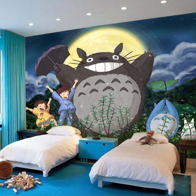 Обои Тоторо My neighton 3D японского аниме, фотообои с героями мультфильмов, детские обои для мальчиков и девочек, декор для комнаты, Настенная бумага для спальни