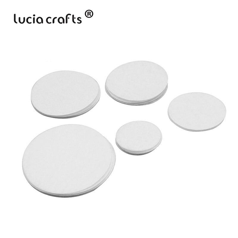 Lucia crafts 50 шт/100 шт 2-6 см белые нетканые войлочные подушечки ткань для рукоделия домашний патч, аксессуары B1203
