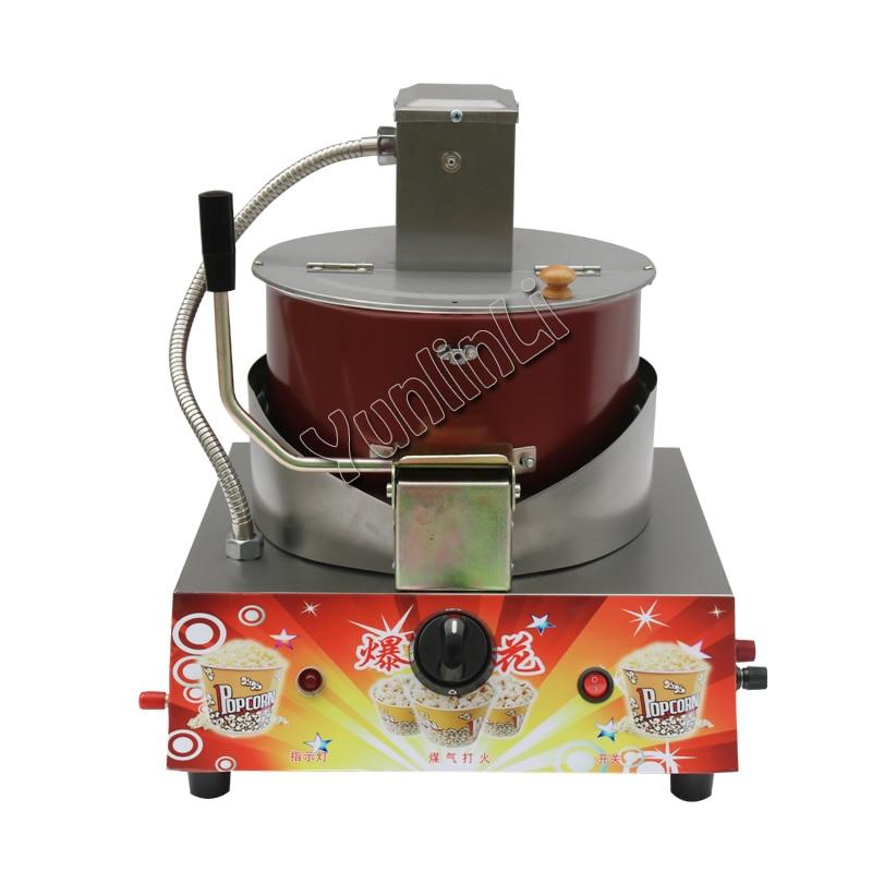 Commercial Popcorn Maker Gas Electric Stirring Popcorn Machine   Automatic Puffed Rice Making Machine  jh0089
