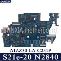 kefu aizz30 la c251p laptop motherboard for lenovo s21e 20 test original mainboard n2840