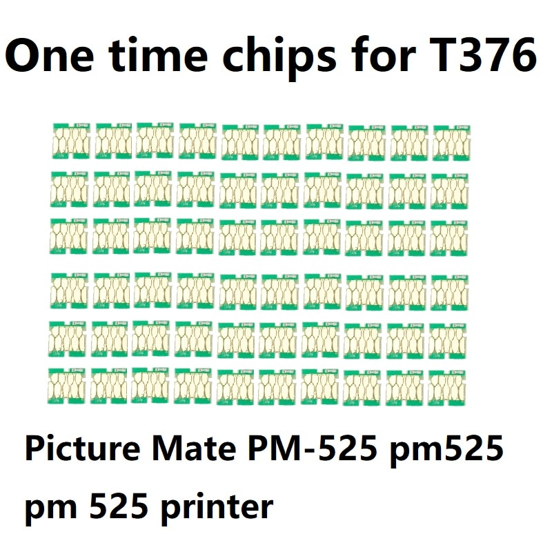 Ink WAY 60 uds Chips de un solo uso para el cartucho de tinta T376 para Epson foto Mate PM-525 pm525 pm 525 chip de impresora