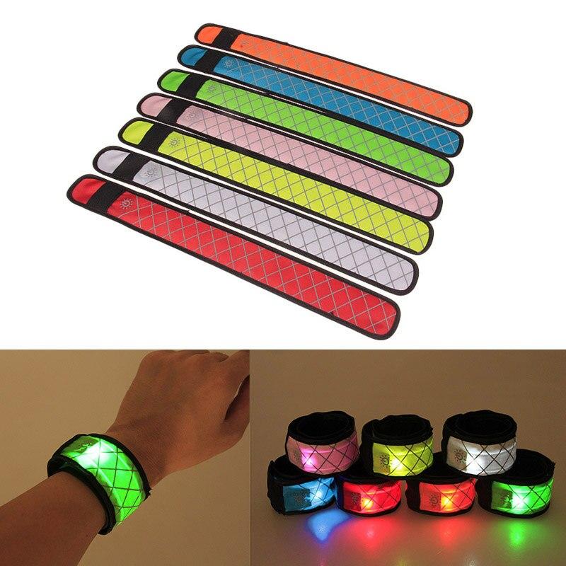 ¡Superventas! Pulsera luminosa de nailon LED para muñeca, brazalete resplandeciente para niños