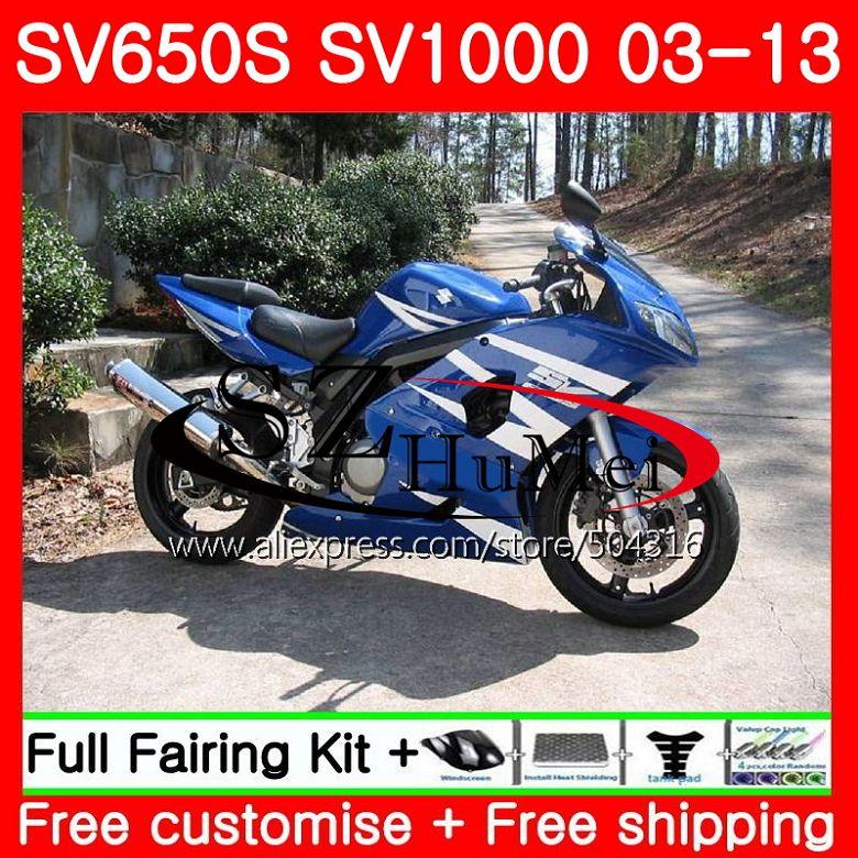 هدية لسوزوكي SV1000S SV650S 03 04 05 06 07 08 106NO.0 SV650 1000 S SV 650S 1000 S 2003 2004 2005 2006 2007 2008 الأسهم الأزرق