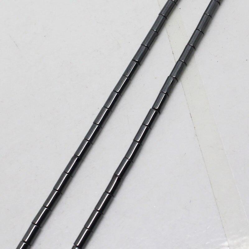 "Mini. pedido é $7! 2x4mm tubo cilíndrico hematite preto natural contas soltas costa 15"""