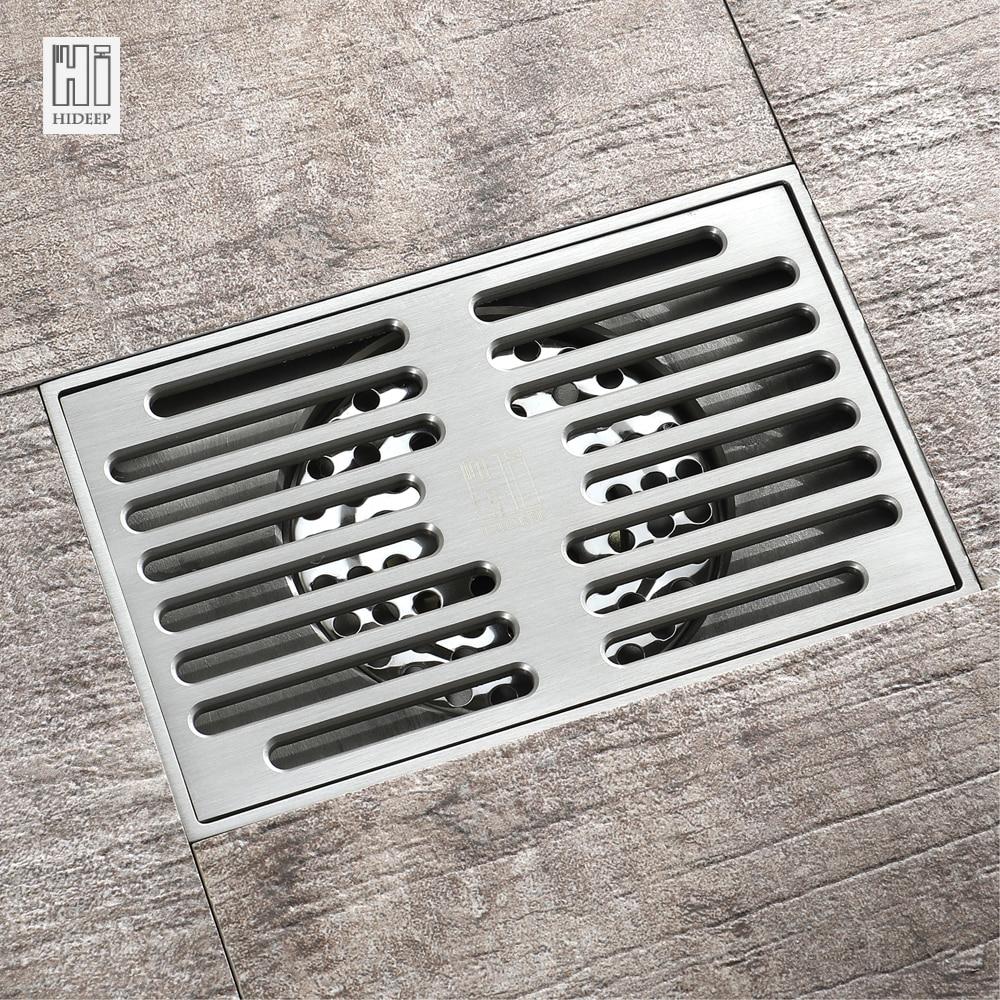 Cepillo HIDEEP, desagüe de ducha de latón níquel para baño familiar, inodoro, balcón de la cocina, bañera dedicada antiolor, escurridor de suelo
