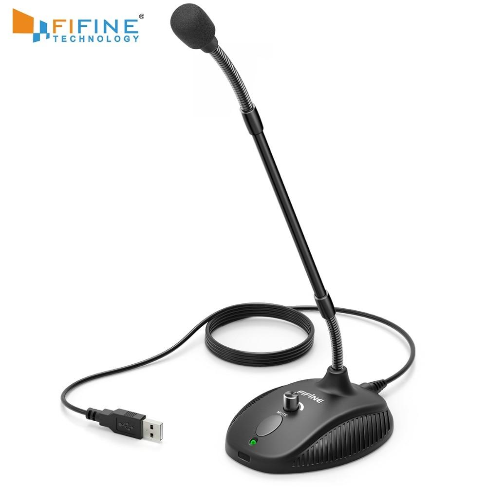 FIFINE гусиная шея микрофон для обучения в классе онлайн видео встречи соцприложение USB костюм для ПК ноутбука регулируемая высота