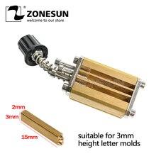 Soporte de molde ZONESUN de dispositivo de codificación de cinta de LT-50D, cabezal térmico para impresora de estampado, bloque de calor de impresora, troqueladora de letras
