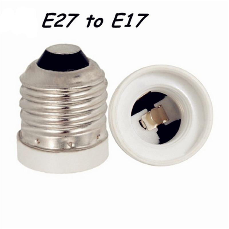 Адаптер E27 в E17, разъем для конвертации, высококачественный материал, огнеупорный материал, адаптер ocket, держатель для лампы, 2 шт./лот