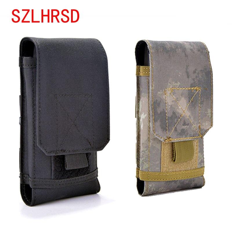 SZLHRSD para LG Fortune 2 bolsa al aire libre MOLLE ejército camuflaje bolsa con cinturón de gancho funda para OPPO A3 Koolnee K5