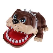 1 pièces nouveau drôle enfants cadeaux mignon grand bouledogue bouche dentiste morsure doigt jouets chanceux chien dent jeu jouets cadeaux pour enfants