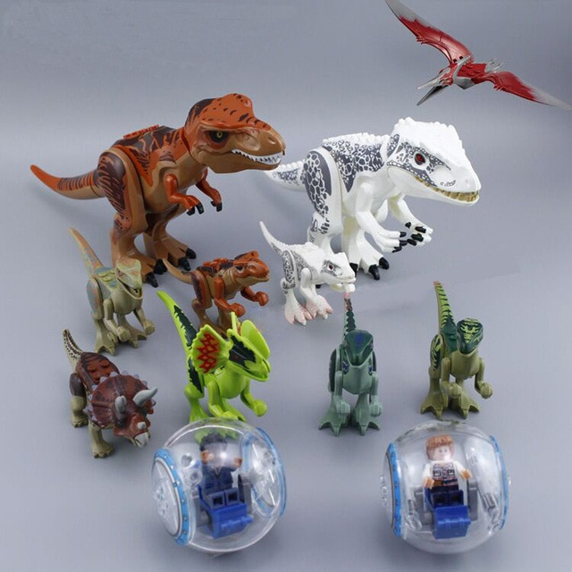 79151 77001 Jurassic Dinosaur Building Blocks Tyrannosaurus Dinosaur Action Figures Bricks Toys Compatible  Dinosaur