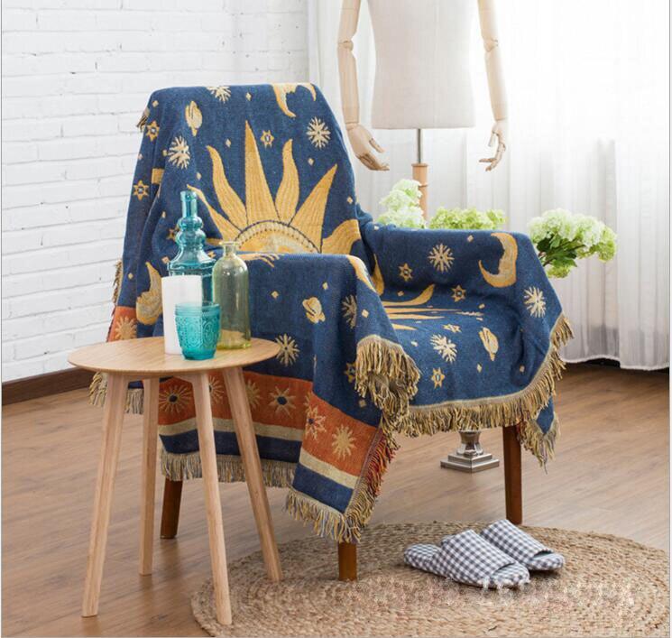 Estilo retro de malha sofá toalha cobertor sun-deus cobertura cobertor sala estar quarto tapete macio colcha toalha