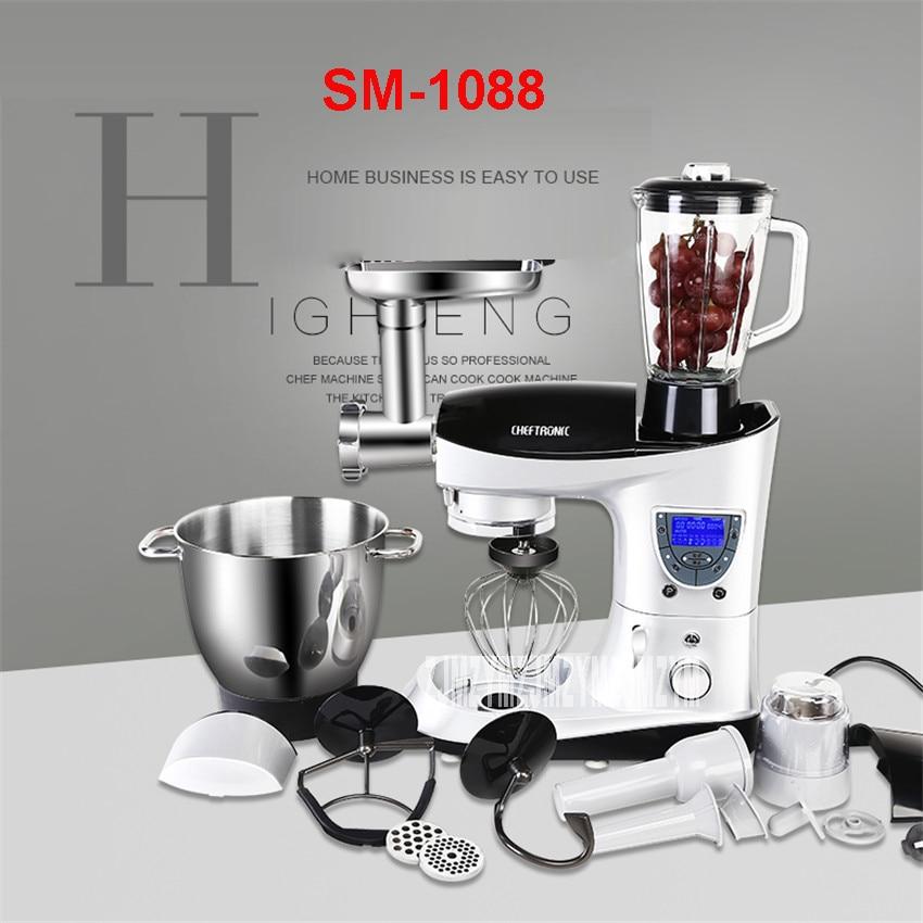 SM-1088 220 V Professionele Lcd Multifunctionele Vloeibare Pasta/Melk/Cake Mixer Smoothing Ei Emmer 7L Automatische Winder Met timer