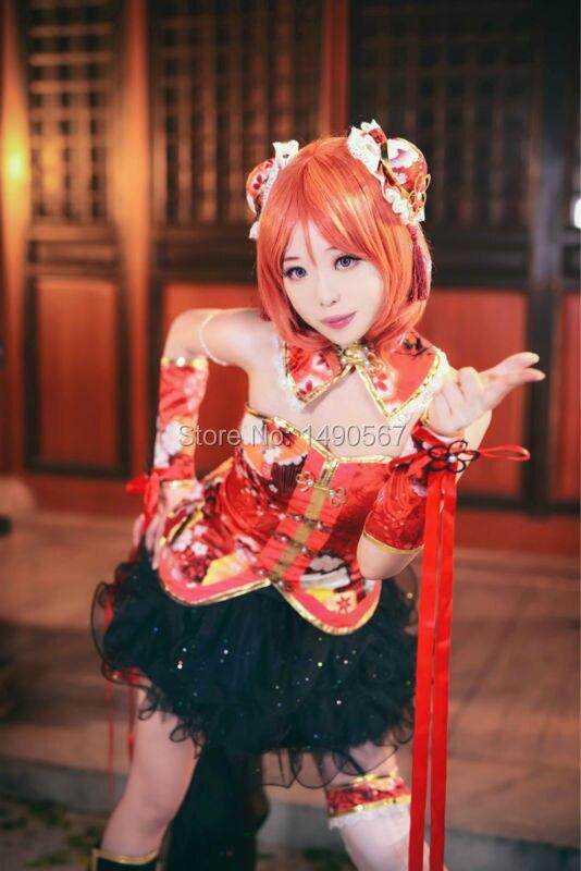 Love Live Nishikino Maki rojo vestido de escenario cheongsam el vestido chino disfraz de Cosplay