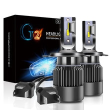 New G2 High Power Mini H1 H7 H11H8 H9 LED Car Headlight Bulb 9006 HB4 CSP Chip H4 LED High/Low Beam 55W Auto Lamp Fog Light