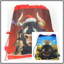 1pcs/lot Ferdinand Theme Portable Drawstring Bag Kid School Backpack Boy Cotton Travel Pouch Storage
