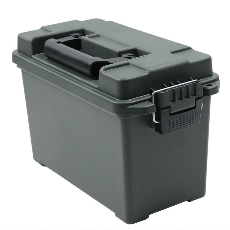 Коробка с патронами в Военном Стиле, пластиковая коробка для хранения, сверхмощный калибр, большой объем, ящик с патронами, легкий чехол для ...