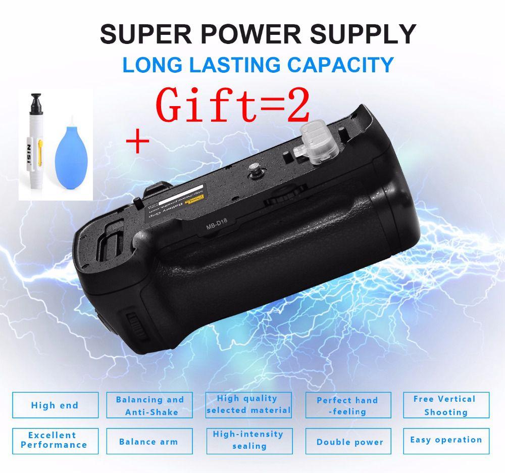 Pixel Vertax MB-D18 Battery Grip work with EN-EL15a/EN-EL15 battery balancing and anti-shake For Nikon D850 Camera DSLR