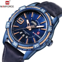 2018 NAVIFORCE מותג של גברים אופנה מזדמנים ספורט שעונים עמיד למים עור קוורץ שעון צבאי גבר תאריך שעה שעון Relogio