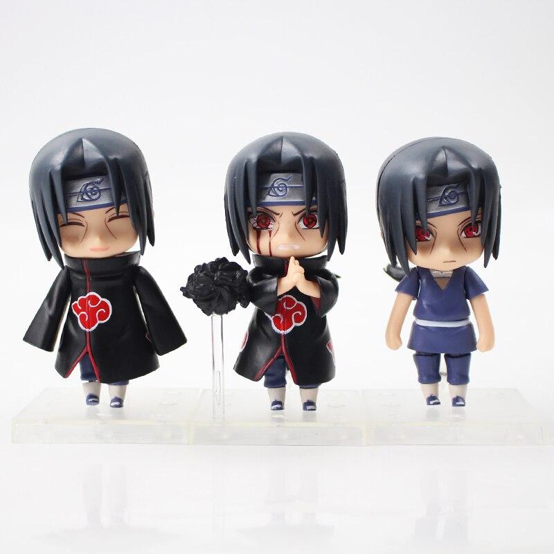 9 cm 3 adet/grup Naruto Uchiha Itachi PVC Aksiyon şekilli kalıp Oyuncak sevimli Uchiha Itachi şekil koleksiyonu arkadaşlar için hediye