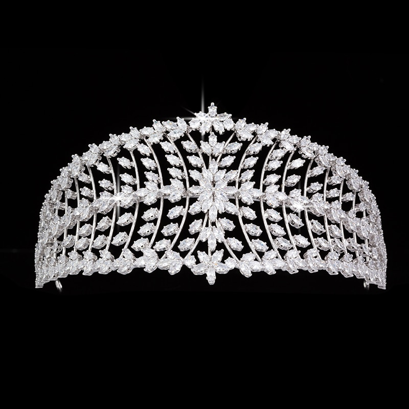 Tiaras And Crowns HADIYANA Bridal Hair Accessories Elegant For Women Wedding Zircon And High Quality BC5315 Accesorios Mujer