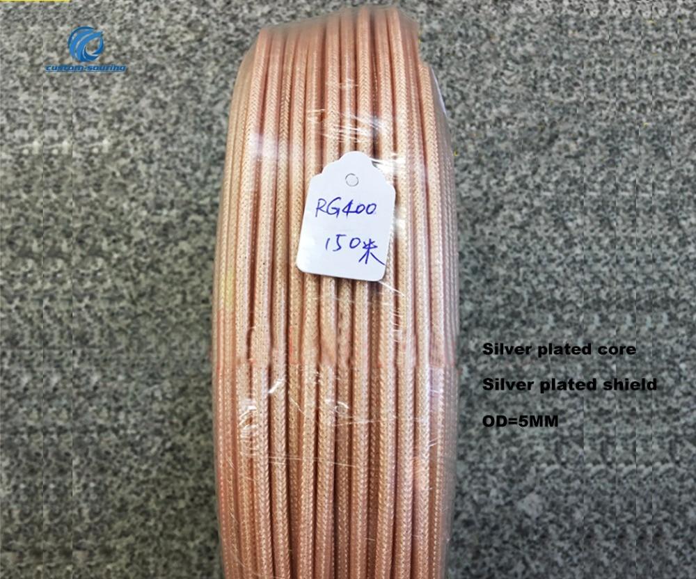 50ohm RG400 الفضة مطلي سلك درجة حرارة عالية مقاومة مزدوجة محمية RF محوري كابل SFF-50-3-2 عالية التردد المغذية