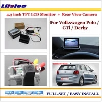 auto camera for vw polo gti derby rear view camera back up 4 3 lcd monitor parking assistance system
