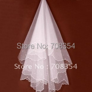Promotion~Wedding Accessory~~Good Quality Imitation Pearl Veil/Bridal Veils